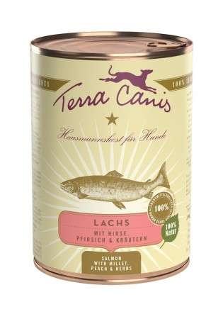 Terra Canis Menü Classic, Lachs mit Hirse, Pfirsich & Kräutern 400 g 4260109624774 Erfahrungsberichte