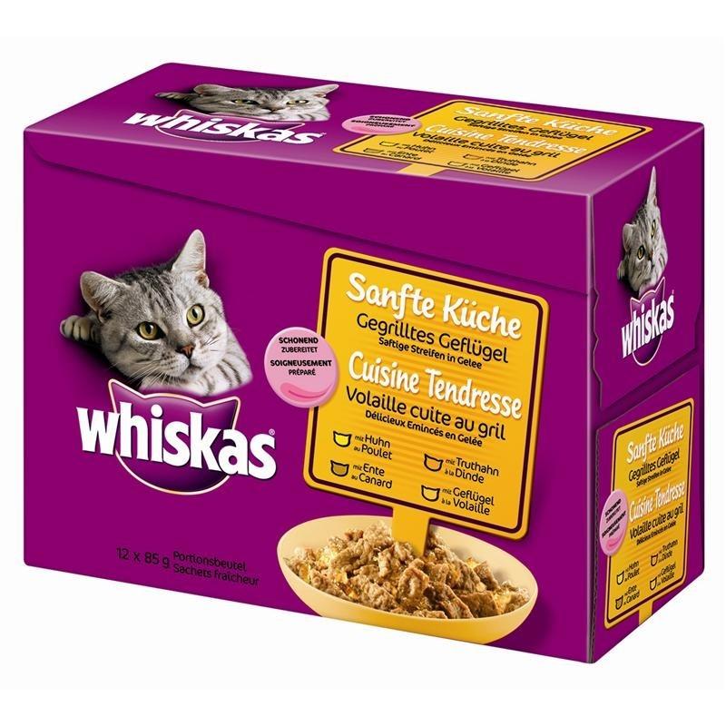 Whiskas Cocina Suave 12es Multipack Aves de Corral a la Parrilla 12x85 g