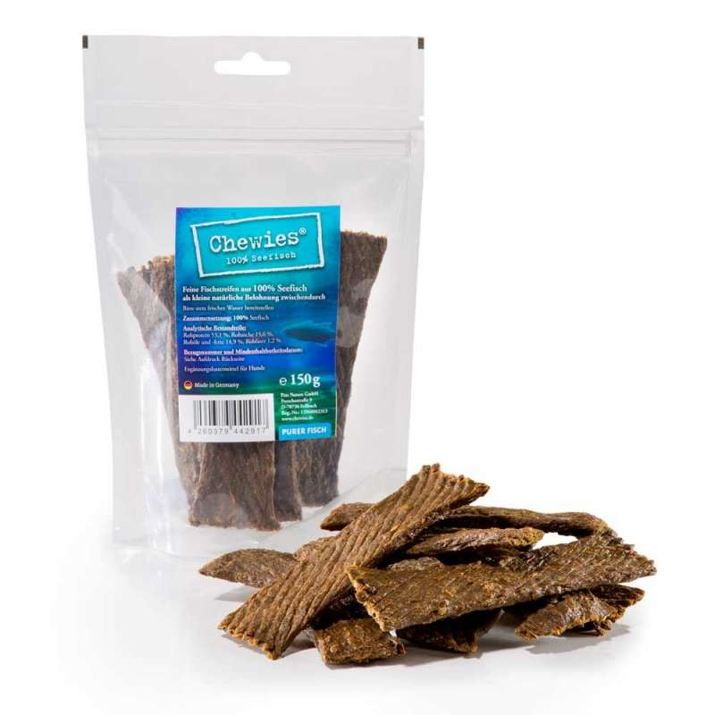 Sea fish strips from Chewies 150 g buy online