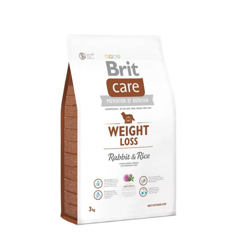 Brit Care Weight Loss med Kanin og Ris 3 kg, 12 kg, 1 kg kjøp billig med rabatt