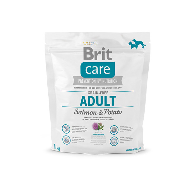 Brit Care Grain-free Adult med Laks og Potet 1 kg