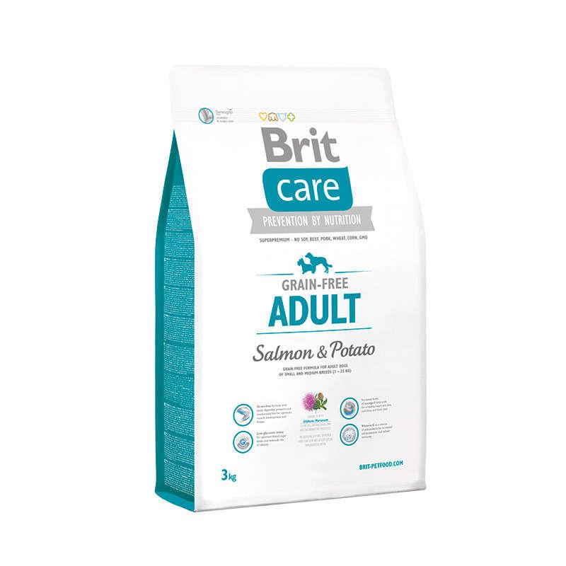 Brit Care Grain-free Adult med Laks og Potet 3 kg
