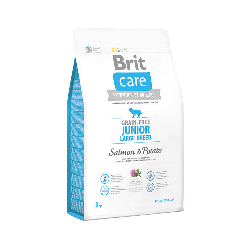 Brit Care Junior Large Breed Grain-free med Lax och Potatis Lax & Potatis