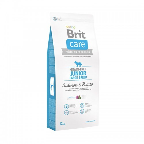 Brit Care Junior Large Breed Grain-free med Lax och Potatis 1 kg, 12 kg, 3 kg