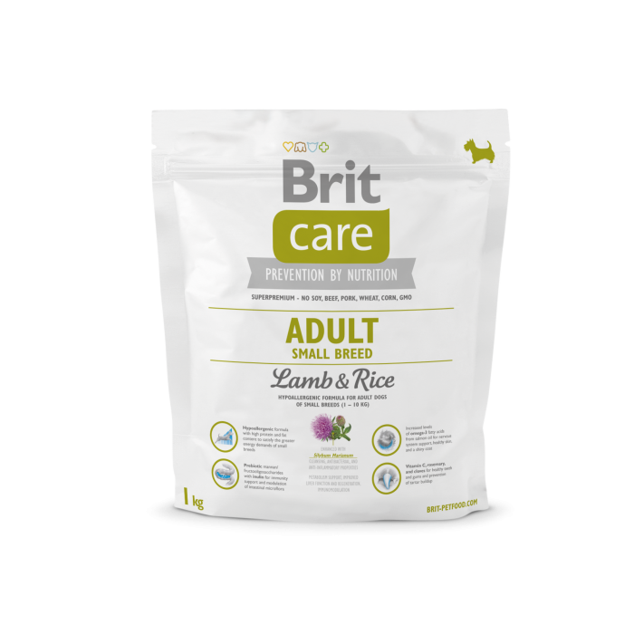 Brit Care Adult Small Breed met Lam & Rijst 1 kg 8595602509904