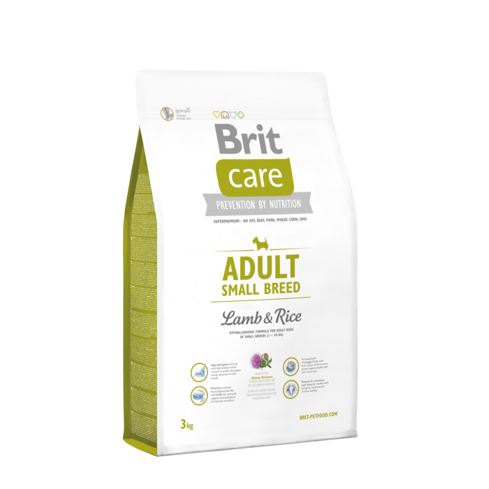 Brit Care Adult Small Breed met Lam & Rijst 3 kg