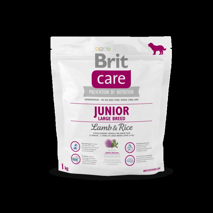 Brit Care Large Breed Junior Lammasta & Riisiä 8595602509850 kokemuksia