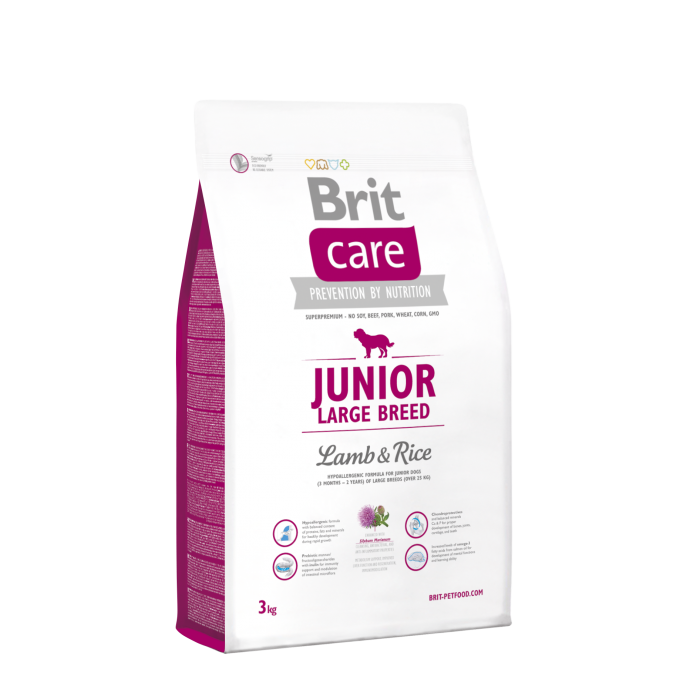 Brit Care Junior Large Breed met Lam & Rijst 3 kg 8595602509843