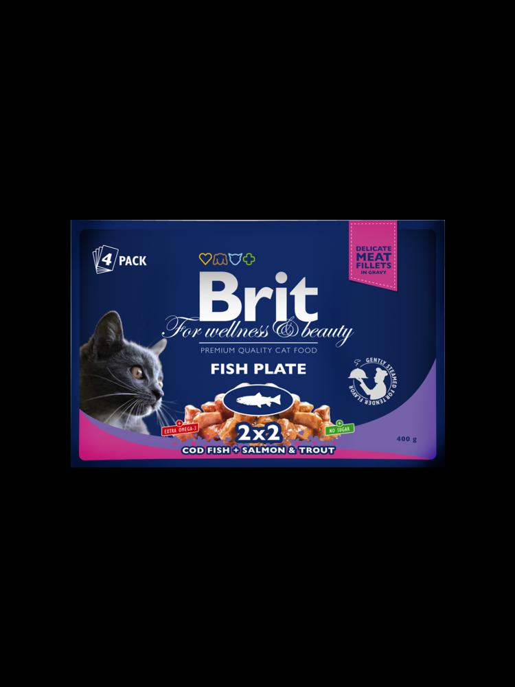 Brit Premium vådfoder - fisk pakke 4x100 g
