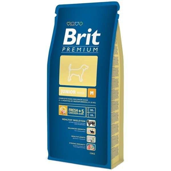 Brit PREMIUM JUNIOR MEDIUM 15 kg, 3 kg