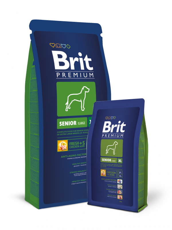Brit Premium Senior XL 15 kg, 3 kg