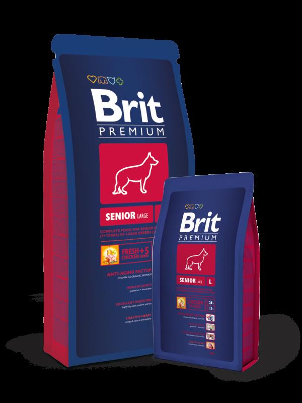 Brit Premium Senior Large 15 kg, 3 kg