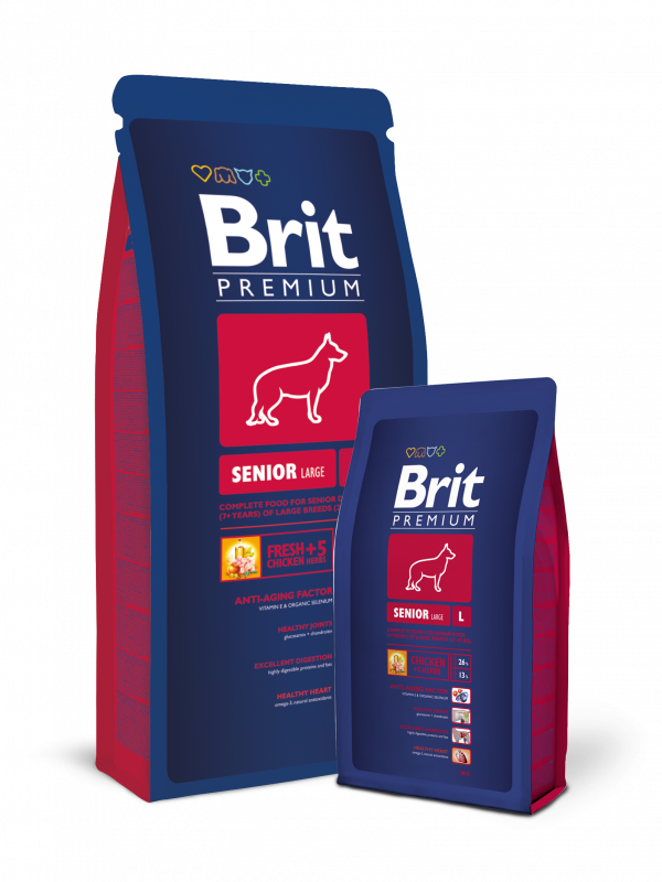 Brit Premium Senior Large 15 kg, 3 kg