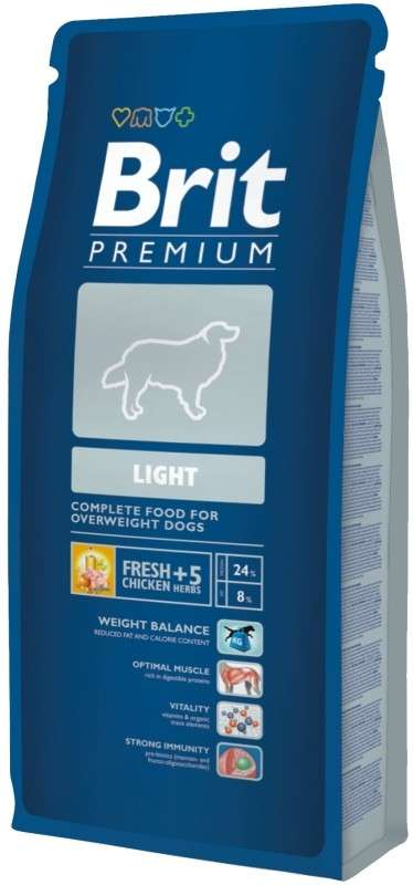 Brit Premium Light 15 kg, 3 kg
