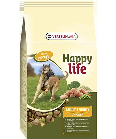 Versele Laga Happy life Adult Energy met Kip 15 kg