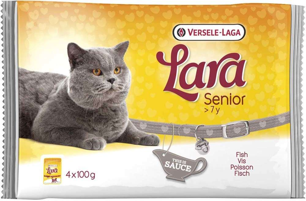 Versele Laga Lara Senior with Fish 4x100 g kjøp billig med rabatt