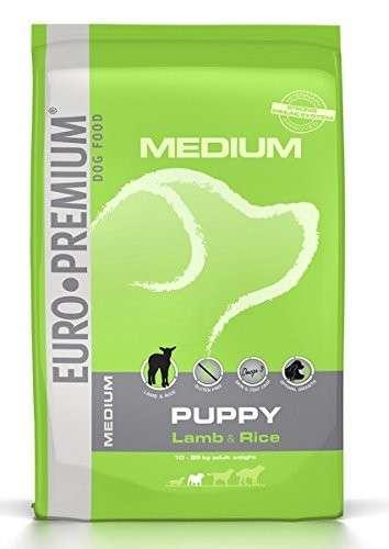 EURO-PREMIUM Medium Puppy Lam & Rijst  Lamsvlees & Rijst 3 kg