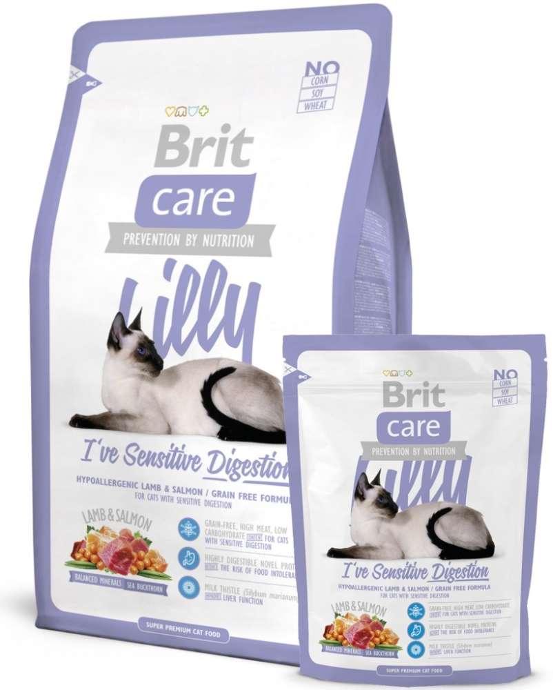 Brit Care Cat Lilly I've Sensitive Digestion 2 kg, 400 g kjøp billig med rabatt