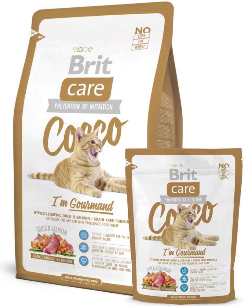Brit Care Cat Cocco I'm Gourmand 2 kg, 400 g kjøp billig med rabatt
