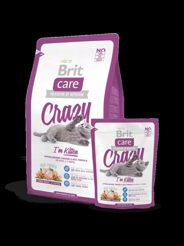 Brit Crazy I'm Kitten 400 g kjøp billig med rabatt
