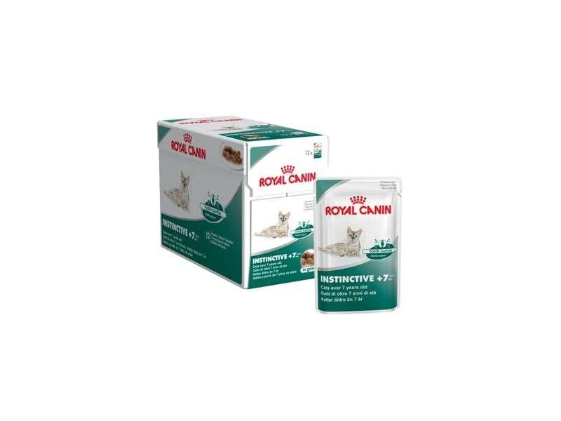 Royal Canin Feline Health Nutrition - Multipack Instinctive +7 in Gravy 12x85 g kjøp billig med rabatt
