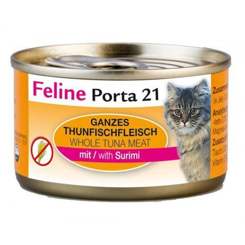 Feline Porta 21 Blikje Tonijn met Krab (Surimi) 90 g