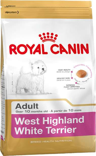 Royal Canin Breed Health Nutrition West Highland White Terrier Adult 1.5 kg, 3 kg, 500 g kjøp billig med rabatt