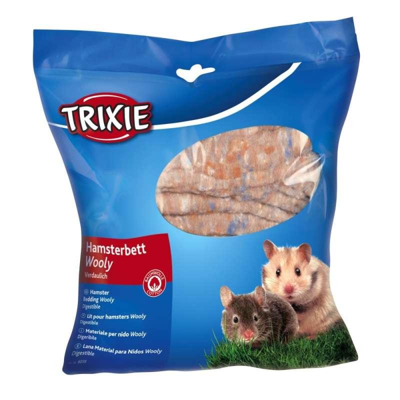 Trixie Wooly Hamsterbett, Brun  100 g Bruin
