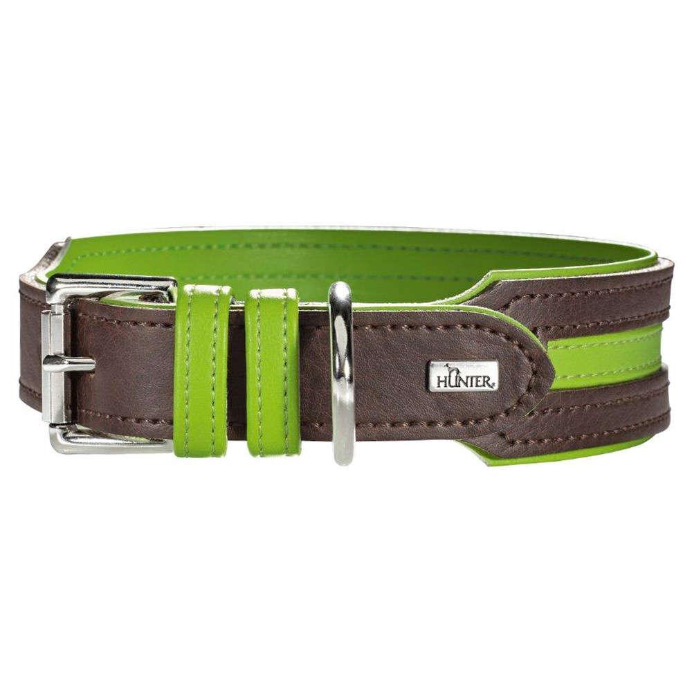 Collar Basic Marbella Stripes Brown / Apple Green 35-43x3.3 cm  from Hunter