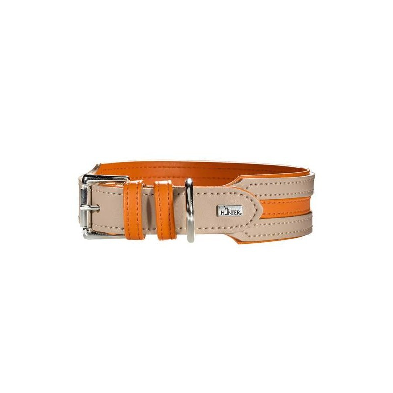 Hunter Halsband Basic Marbella Stripes Steen / Oranje 35-43x3.3 cm 4016739616449