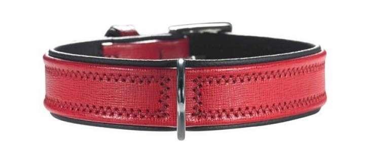 Hunter Halsband Linum Rood / Zwart 37-43x2.9 cm  met korting aantrekkelijk en goedkoop kopen