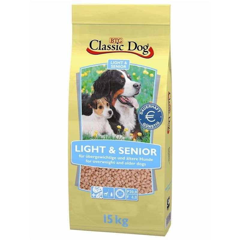 Classic Dog Light & Senior 15 kg kjøp billig med rabatt