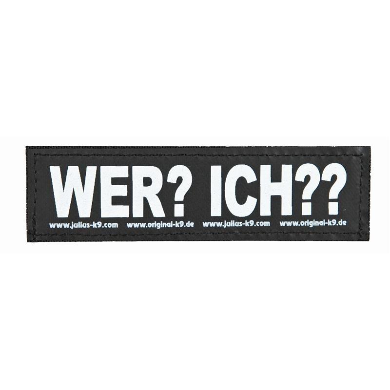 """Julius K9 Velcro Sticker """"Wer?Ich??"""" FREIZEITGESTALTER"""