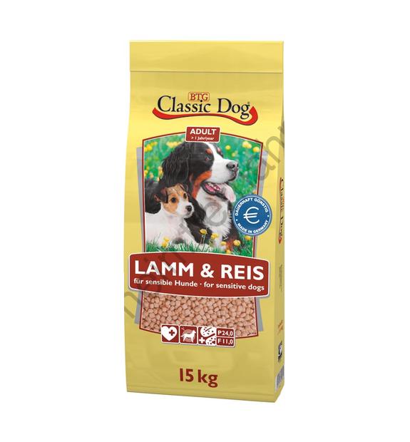 Classic Dog Lamb & Rice 15 kg osta edullisesti