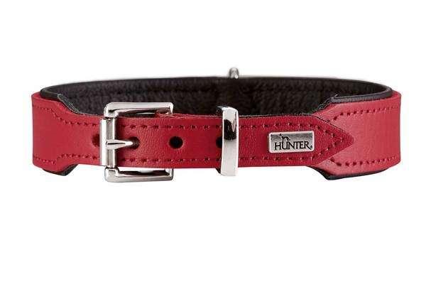 Halsband Basic Röd 24-28.5 cm  från Hunter köp billiga på nätet