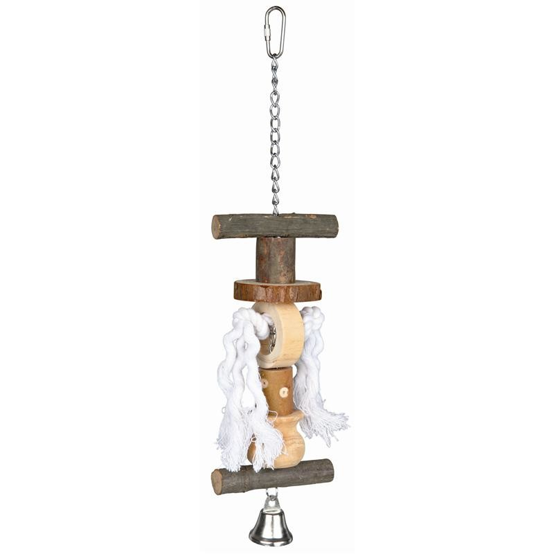 Trixie Natural Living Toy with Rope and Bell 38 cm Brown buy online