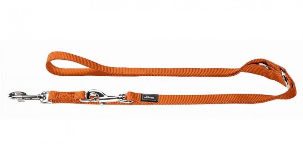 Hunter Verstellbare Führleine Nylon Orange 200x2.5 cm