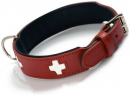 Collar Swiss Eco Leather Red / Black Punainen
