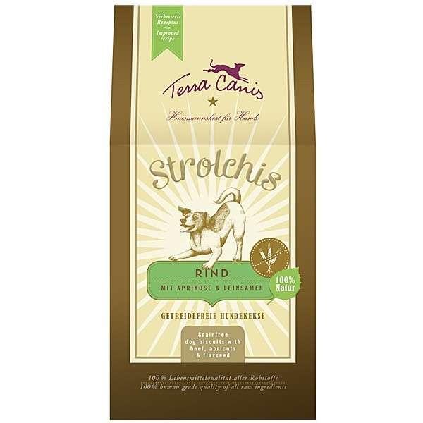 Terra Canis Snack Strolchis Rund met Abricoos & Lijnzaad 250 g