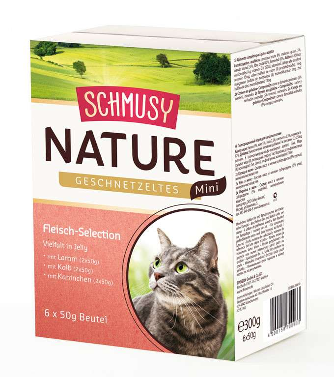 Schmusy Natural Chopped Meat Mini Selection 6x50 g test