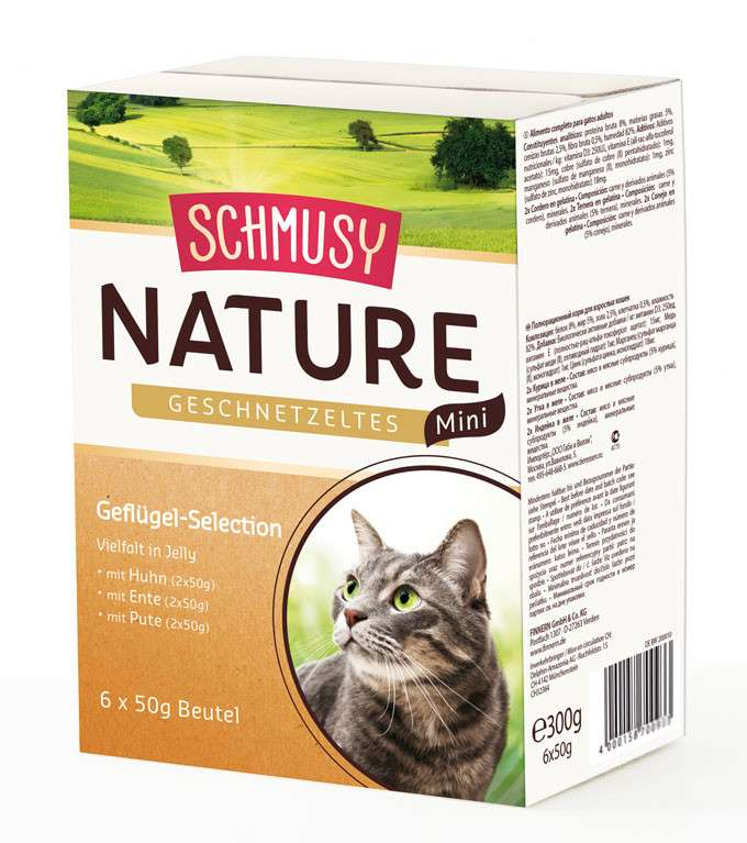Schmusy Natural Chopped Poultry Mini Selection 6x50 g