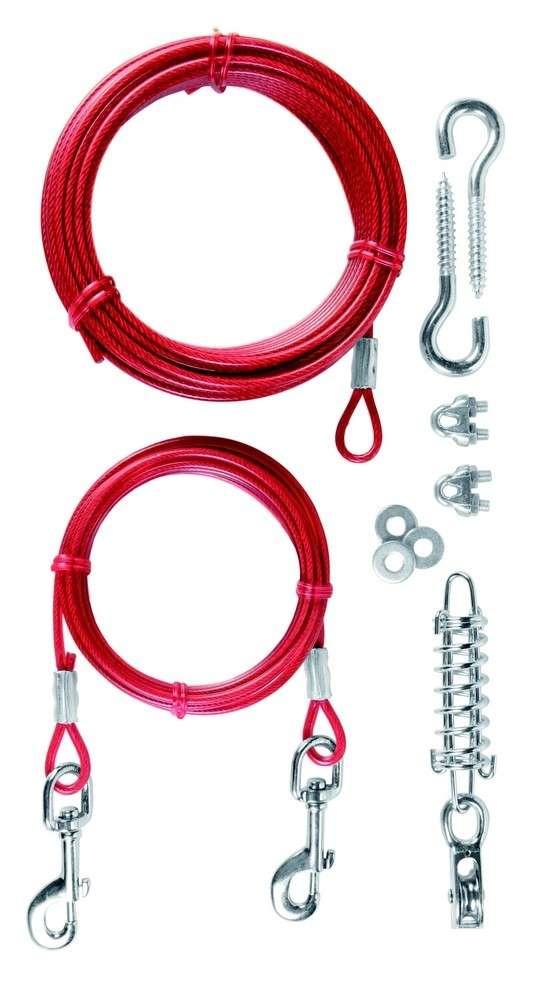 Tie Out Cable with Pulley 15 m  af Trixie køb rimeligt og favoribelt med rabat