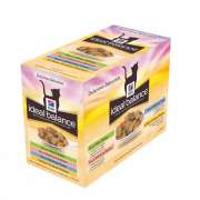 Hill's Ideal Balance Feline Multipack Adult with Chicken & Turkey & Trout & Salmon 12x85 g