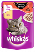 Whiskas Creamy Soups with Beef in sauce - EAN: 4770608254490