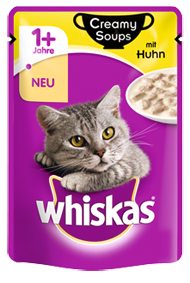 Whiskas Creamy Soups with Chicken in sauce 85 g kjøp billig med rabatt