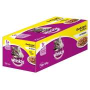 Whiskas 1+ Poultry Selection in Jelly 40x100 g
