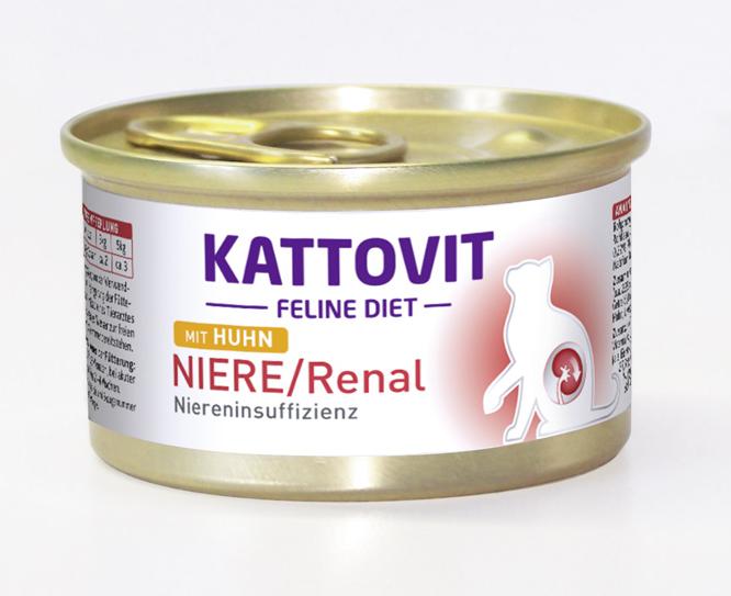 Kattovit Feline Diet Renal Pollo 175 g, 85 g prueba