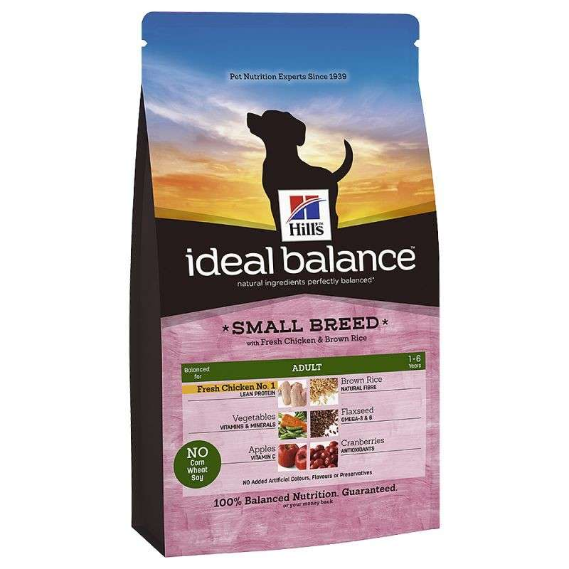 Hill's Ideal Balance Canine - Adult Small Breed con Pollo & Arroz Integral 2 kg 0052742313207 opiniones