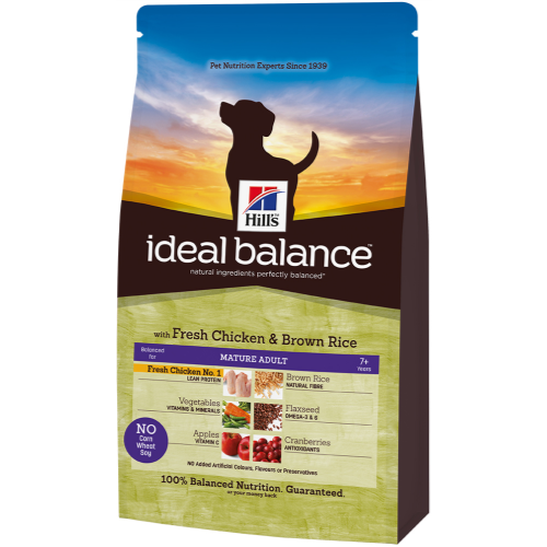 Hill's Ideal Balance Canine - Mature Adult con Pollo y Arroz Moreno 700 g, 2 kg, 12 kg