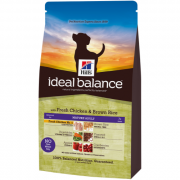 Hill's Ideal Balance Canine Mature Adult fersk Kylling og brune Ris 2 kg